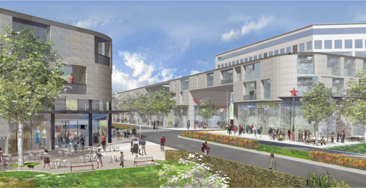 Plans originally called for an 8-screen theater to be included in the retail portion of the project, but those plans were axed in favor of more bars, restaurants, and entertainment venues.